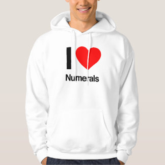 i love numerals hooded pullovers