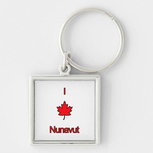 I Love Nunavut Keychains