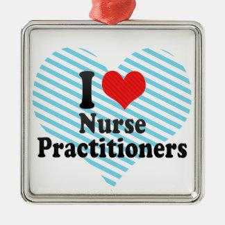 I Love Nurse Practitioners Christmas Tree Ornaments