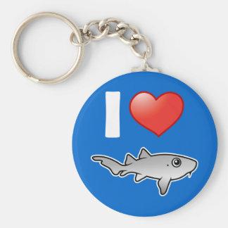 I Love Nurse Sharks Key Chain