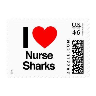 i love nurse sharks postage