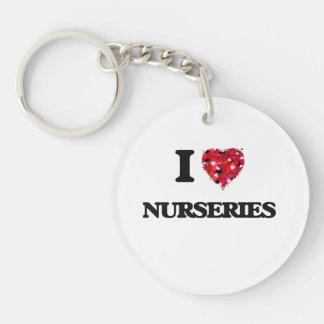 I Love Nurseries Single-Sided Round Acrylic Keychain