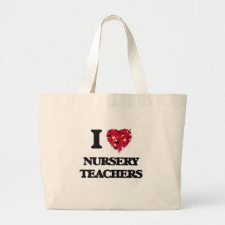 I love Nursery Teachers Jumbo Tote Bag
