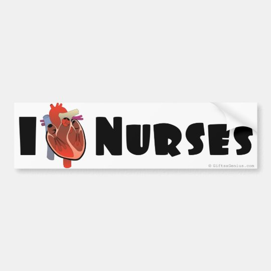 I love nurses bumper sticker