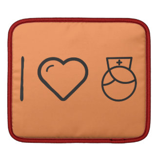 I Love Nurses Sleeve For iPads
