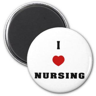 I Love Nursing 2 Inch Round Magnet