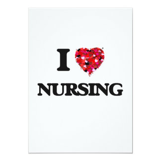 I Love Nursing 5x7 Paper Invitation Card