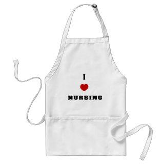 I Love Nursing Adult Apron