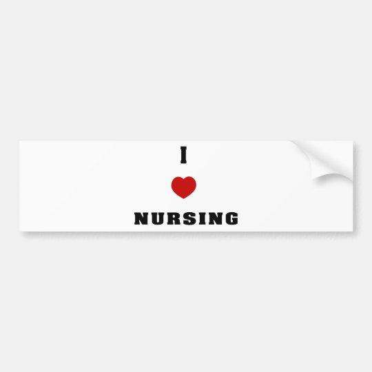I Love Nursing Bumper Sticker