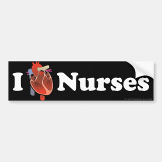 I love nursing bumper sticker