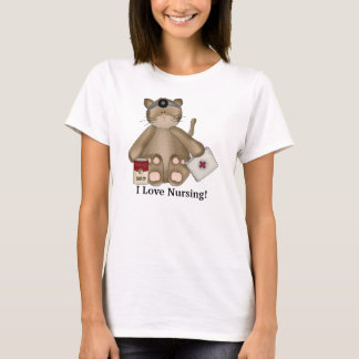I Love Nursing Cat t-shirt