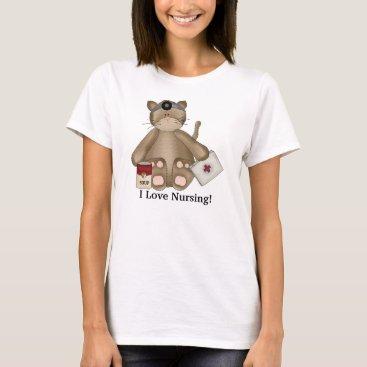 doodlesgifts I Love Nursing Cat t-shirt