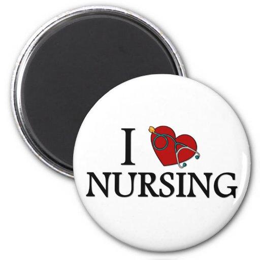 I Love Nursing Fridge Magnet