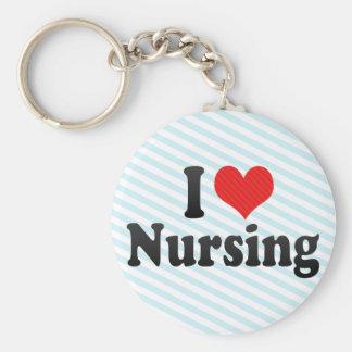 I Love Nursing Key Chain