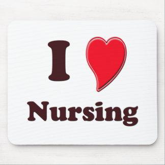I Love Nursing Mouse Pad
