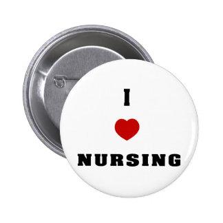 I Love Nursing Pinback Button