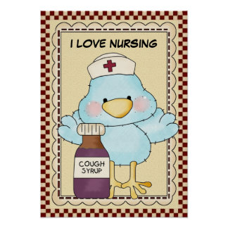 I Love Nursing Poster