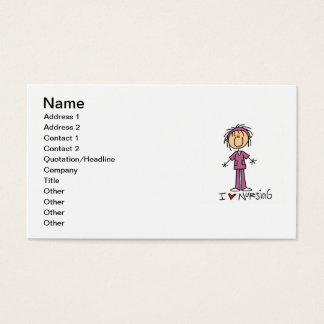 I Love Nursing T-shirts and Gifts Business Card