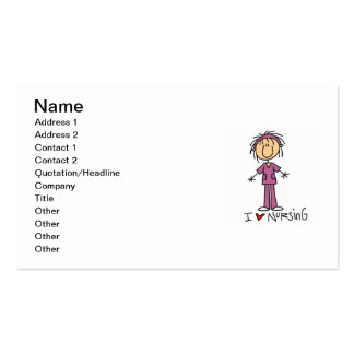 I Love Nursing T-shirts and Gifts Business Card Template