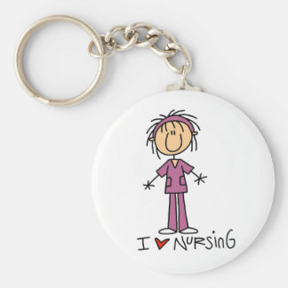I Love Nursing T-shirts and Gifts Keychains