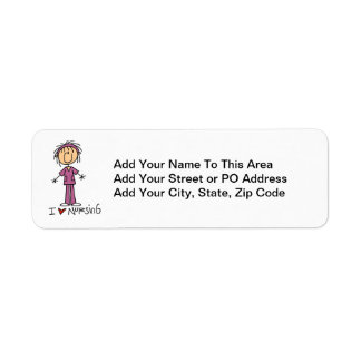 I Love Nursing T-shirts and Gifts Label