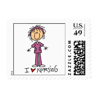 I Love Nursing T-shirts and Gifts Postage Stamps