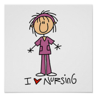 I Love Nursing T-shirts and Gifts Poster