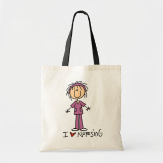 I Love Nursing T-shirts and Gifts Tote Bag
