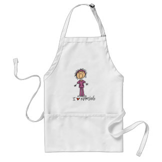 I Love Nursing Tshirts and Gifts Adult Apron