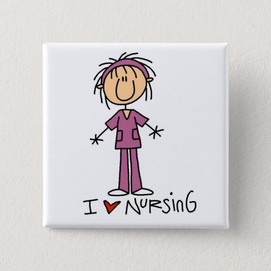 I Love Nursing Tshirts and Gifts Button