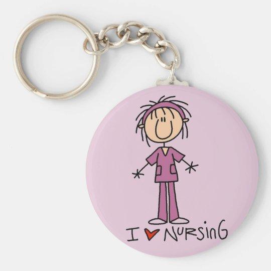 I Love Nursing Tshirts and Gifts Keychain
