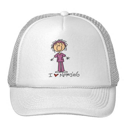 I Love Nursing Tshirts and Gifts Mesh Hat