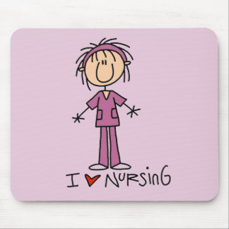 I Love Nursing Tshirts and Gifts Mouse Pad