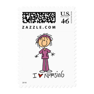 I Love Nursing Tshirts and Gifts Postage Stamps