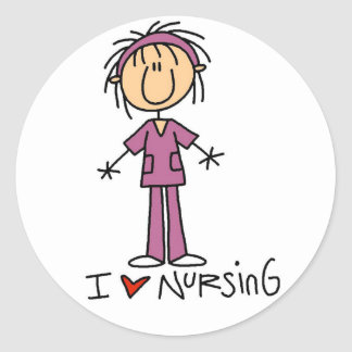 I Love Nursing Tshirts and Gifts Stickers