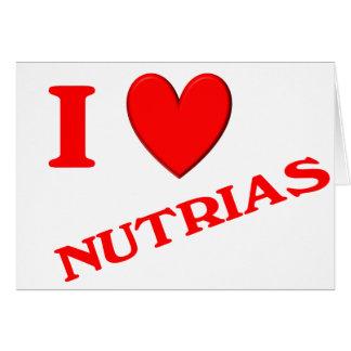 I Love Nutrias Card
