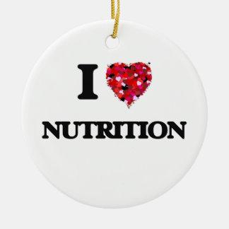 I Love Nutrition Ceramic Ornament