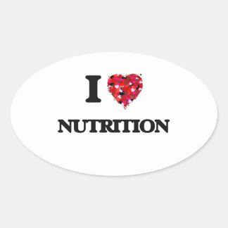 I Love Nutrition Oval Sticker