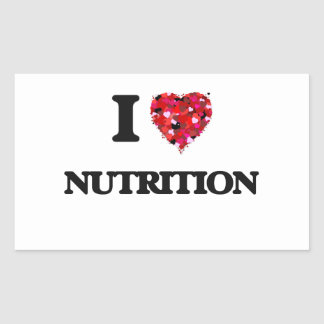 I Love Nutrition Rectangular Sticker