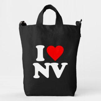 I LOVE NV DUCK CANVAS BAG