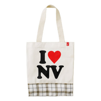 I LOVE NV ZAZZLE HEART TOTE BAG
