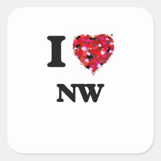 I Love Nw Square Sticker