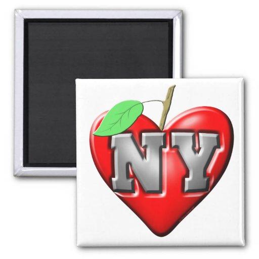 I Love NY 2 Inch Square Magnet