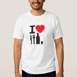 I love NY - a knife, a fork, a bottle and a cork t Tee Shirts