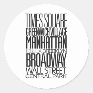 I Love NY Classic Round Sticker