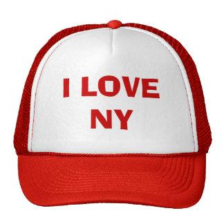 I LOVE NY TRUCKER HATS