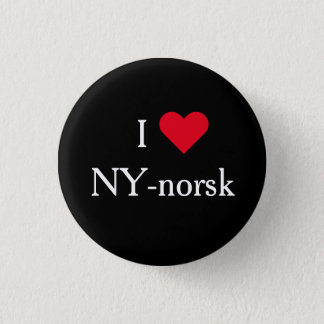 I Love NY-norsk - Lilyhammer Norway New York bagde Pinback Button