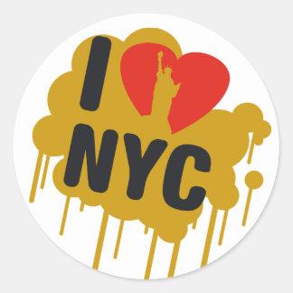 I love NY Round Sticker