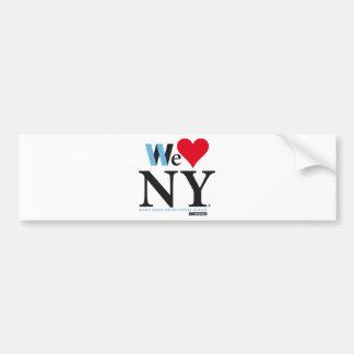 I LOVE NY, WE LOVE NY, DO YOU? BUMPER STICKER