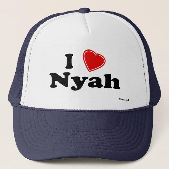 I Love Nyah Trucker Hat